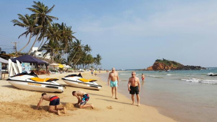 Coral beach, Sri Lanka