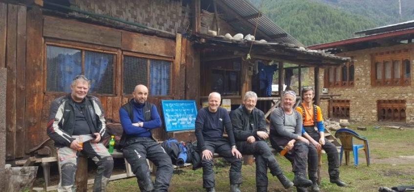 På offroad-tur i retning Kina :-) Bhutan på MC